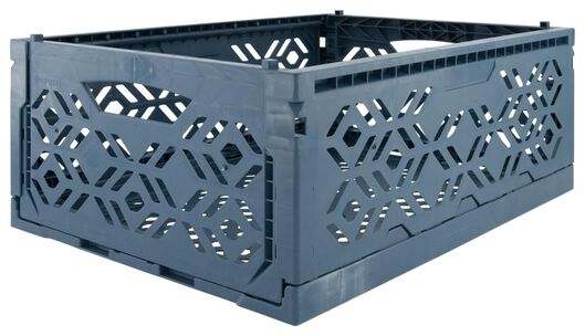 folding crate recycled 30x40x15 - dark blue - 39821051 - hema