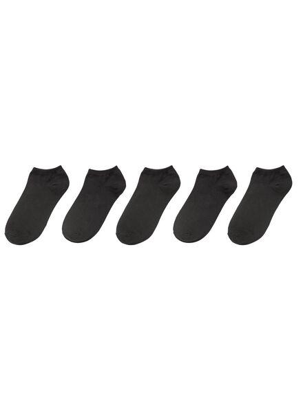 5 Paar Sneakersocken schwarz schwarz - 1000001522 - HEMA
