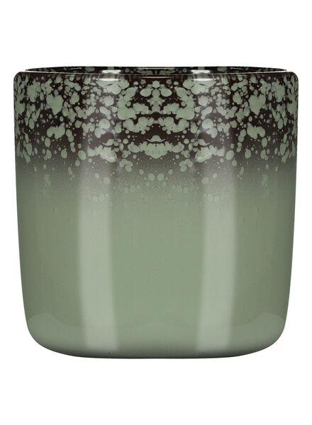 flower pot Ø 12.5 cm - reactive glaze - green - 13391062 - hema