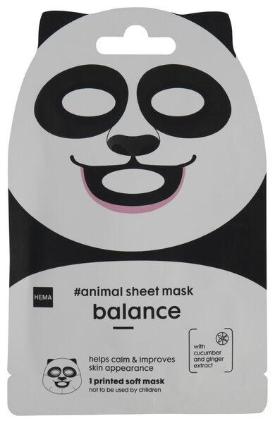 dieren sheetmask panda 15ml - 17860225 - HEMA