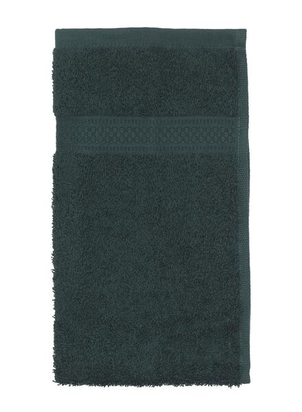 serviette de bain - qualité épaisse - vert foncé vert foncé petite serviette - 5220012 - HEMA