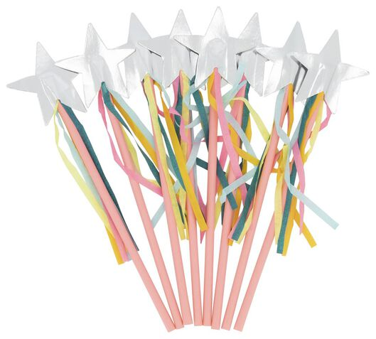 8 baguettes magiques 20 cm - arc-en-ciel - 14210153 - HEMA