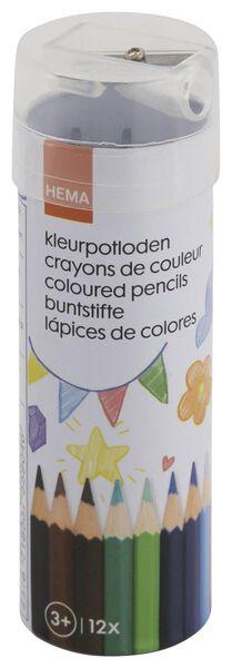 12er-Pack Buntstifte mit Anspitzer - 15902002 - HEMA