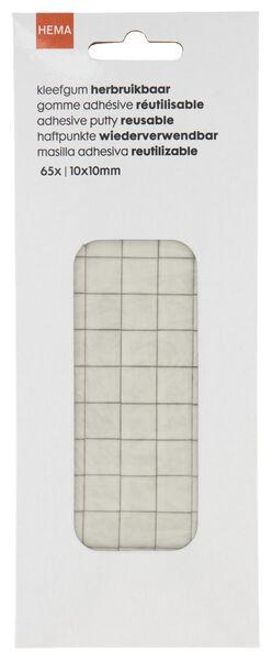 65er-Pack Klebegummi, wiederverwendbar, 10 x 10 mm - 14800020 - HEMA