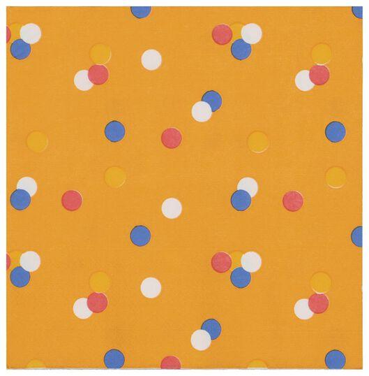 20er-Pack Servietten, 33 x 33 cm, Papier, orange - 25200005 - HEMA