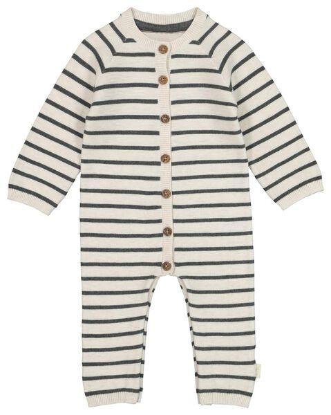 combinaison pour nouveau-né en coton bio tricoté gris gris - 1000020821 - HEMA