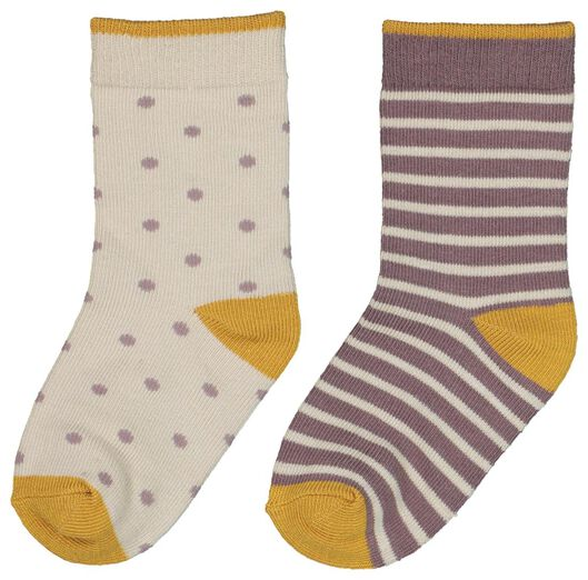 2-pack baby socks with bamboo purple purple - 1000020016 - hema