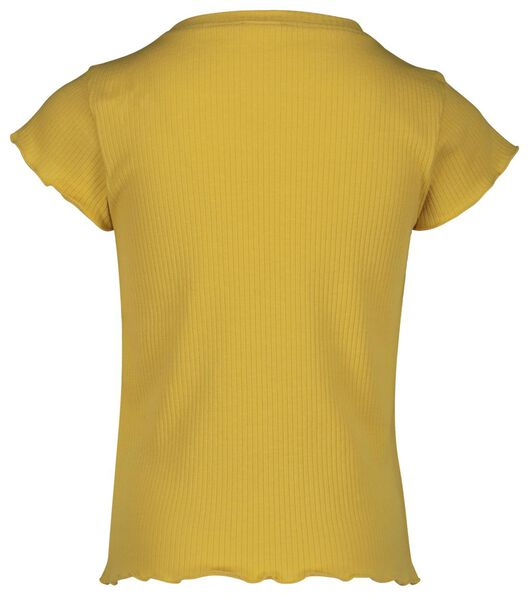 children's T-shirt ribbed yellow yellow - 1000018973 - hema