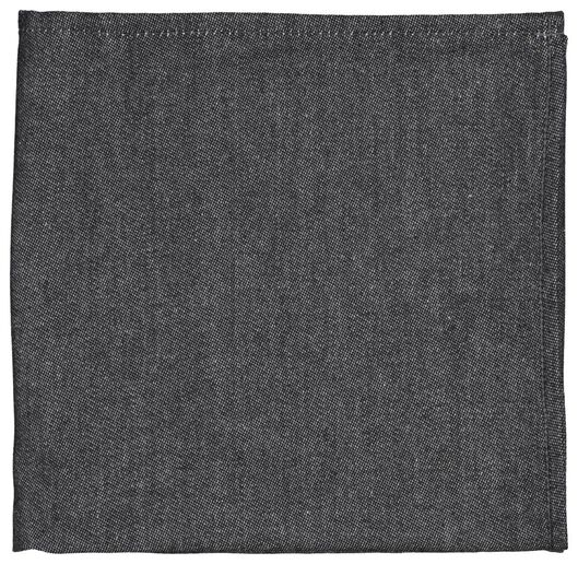 tea towel 65x65 black - 5400109 - hema