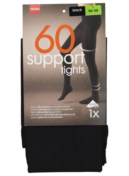 collant stimulant 60 deniers noir 40/42 - 4040337 - HEMA