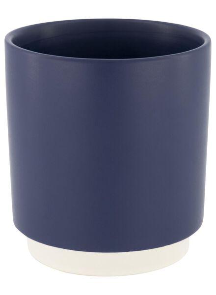 cache-pot - 14.5 cm x Ø 13 cm - céramique bleu foncé - 13392149 - HEMA
