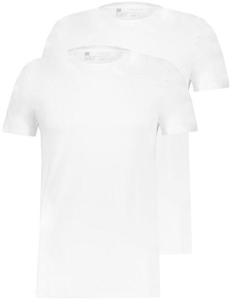 HEMA 2er-Pack Herren-T-Shirts, Regular Fit, Rundhalsausschnitt Weiß