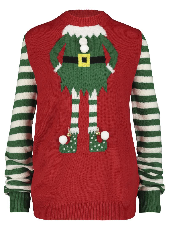 Weihnachtspullover für Erwachsene, Elfe rot HEMA