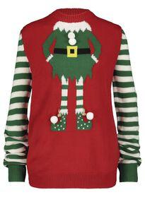 Weihnachtspullover für Erwachsene, Elfe rot rot - 1000016974 - HEMA