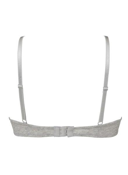 2-pack push-up bras cotton grey melange grey melange - 1000006605 - hema