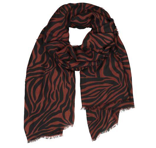 HEMA Damen-Schal, 200 X 80 Cm, Zebramuster