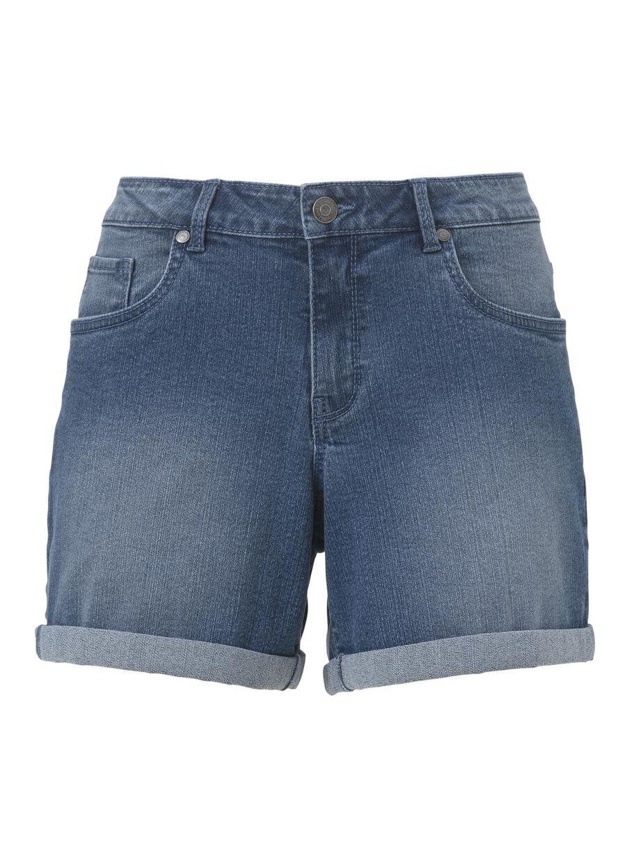 Korte Broek Dames Jeans.Dames Korte Broek Middenblauw Hema