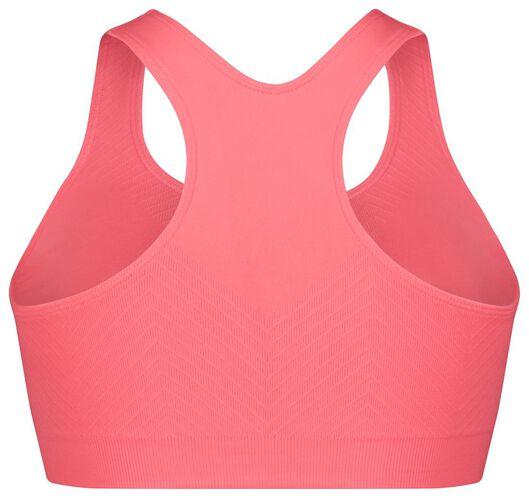 top de sport support medium sans coutures rose vif rose vif - 1000024224 - HEMA