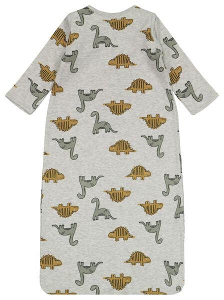 Baby-Schlafsack, ungepolstert, Ärmel abnehmbar, Dinosaurier graumeliert 86/104 - 33327123 - HEMA