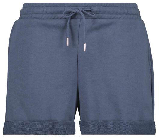 Hosen - HEMA Damen Sweatshorts Blau  - Onlineshop HEMA