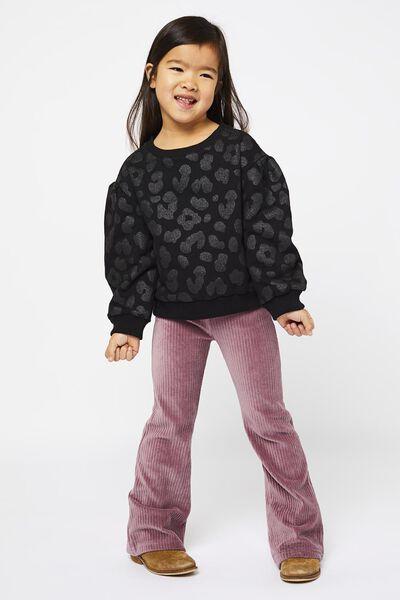 Kinder-Leggings, gerippt, Schlaghosenschnitt violett violett - 1000021885 - HEMA