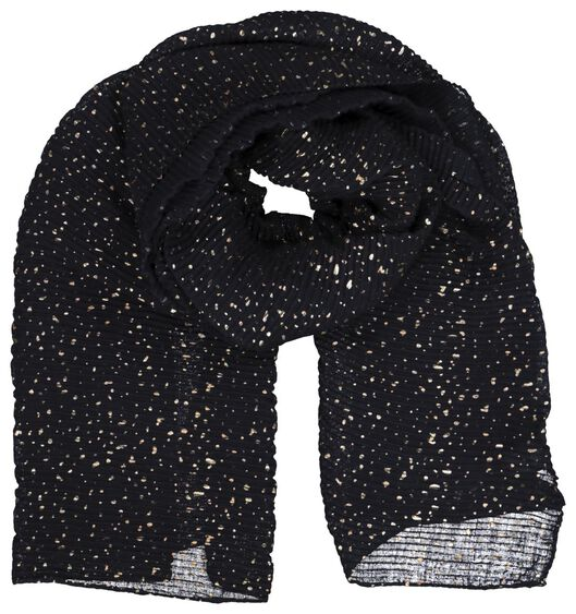 women's scarf 200x80 accordion blue/gold - 1790020 - hema