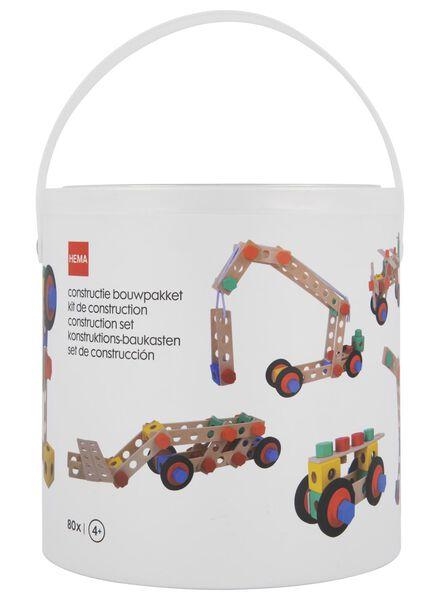 constructie bouwpakket hout - 80 stuks - 15190288 - HEMA
