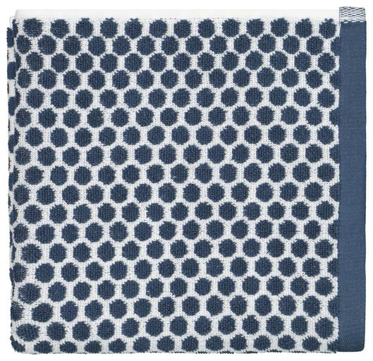 towel - 50 x 100 - heavy quality - dotted - jeans blue denim towel 50 x 100 - 5210089 - hema