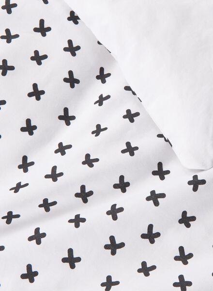 housse de couette-coton doux-140x200cm-blanc croix blanc 140 x 200 - 5750104 - HEMA