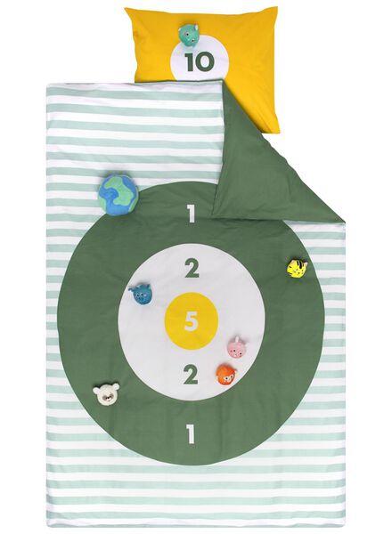 housse de couette enfant - 140x200 - jeu de chamboule-tout vert - 5740019 - HEMA