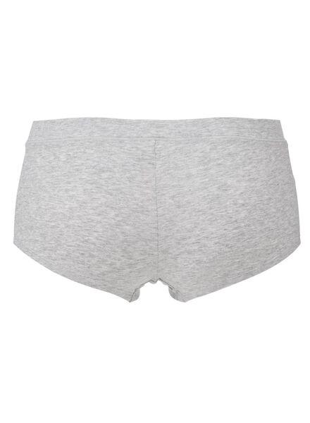 women's boxer briefs real lasting cotton grey melange grey melange - 1000012251 - hema