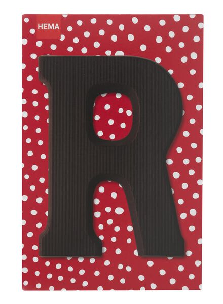 dark chocolate letter R - 10034015 - hema