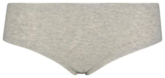 dameshipster second skin katoen grijsmelange grijsmelange - 1000018634 - HEMA