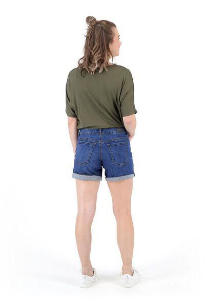 short femme denim bleu moyen 38 - 36291366 - HEMA
