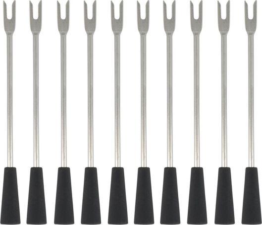 10 tapas sticks stainless steel - 80890014 - hema