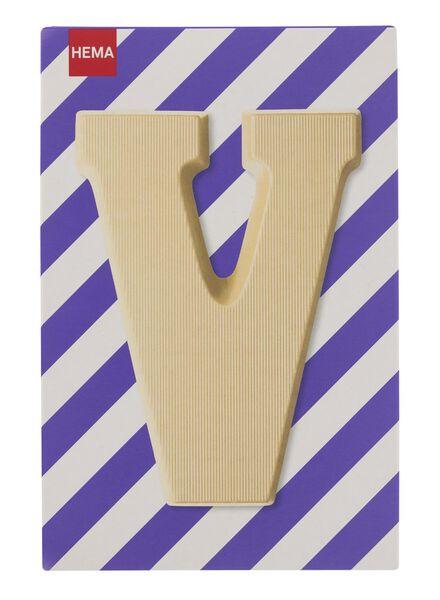 white chocolate letter V - 10037018 - hema