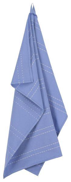 theedoek - 65 x 65 - katoen - blauw streep - 5490037 - HEMA