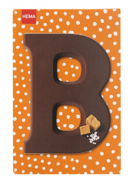 caramel sea salt milk chocolate letter B - 10039002 - hema