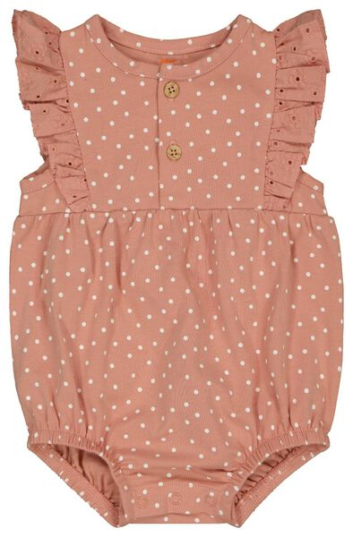 Newborn-Jumpsuit, Punkte rosa 56 - 33417812 - HEMA