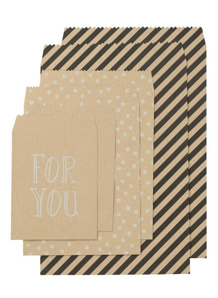 6-pack gift bags - 14700061 - hema