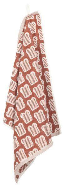 essuie-mains 50x50 coton - marron/blanc pain - 5410091 - HEMA