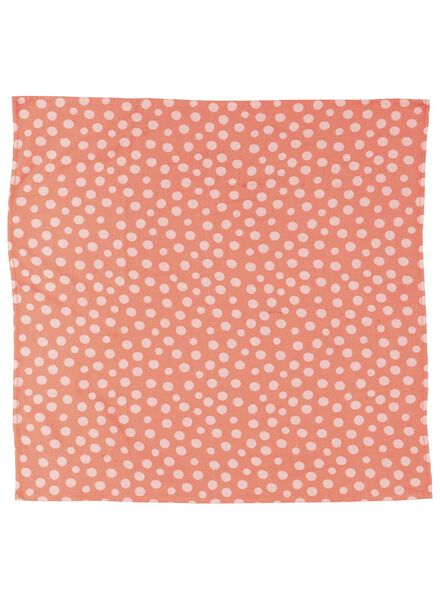 tea- and kitchen towel - cotton - coral dotted - 5490015 - hema