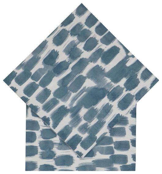20er-Pack Servietten, 33 x 33 cm, Papier, Farbstreifen - 14200457 - HEMA