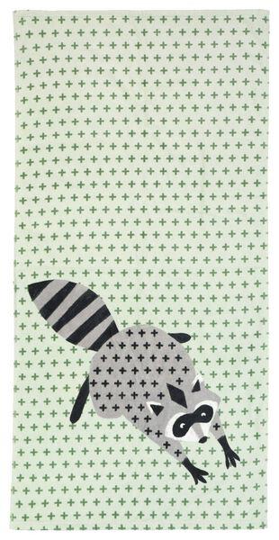 serviette de bain - velours - 70x140 - raton laveur - 5210119 - HEMA