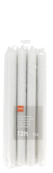 12 long household candles - 29x2.2 - light grey - 13502428 - hema