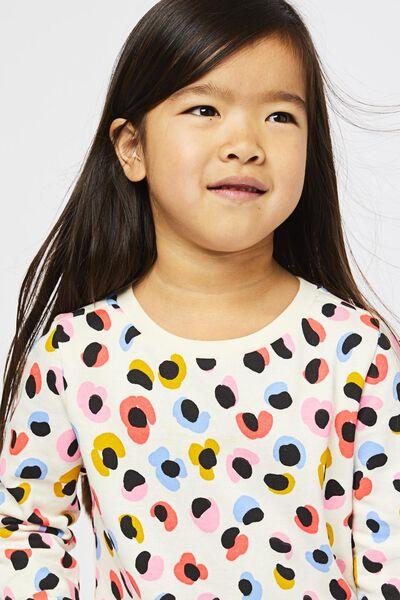 Kinder-Sweatshirt, Blumen eierschalenfarben eierschalenfarben - 1000021948 - HEMA