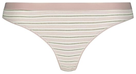 Damen-Slip, Feinripp, gestreift bunt - 1000022971 - HEMA