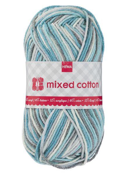 knitting yarn mixed cotton - blue/white/grey - 1400160 - hema