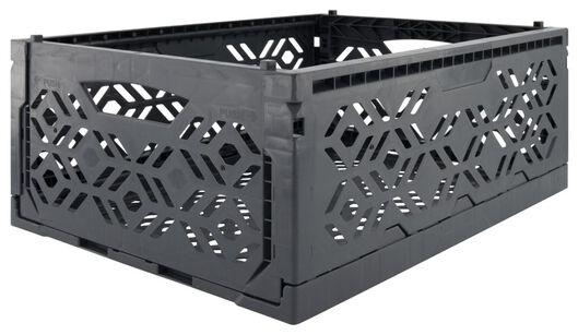 Klappkiste, recycelt, 30 x 40 x 15 cm, dunkelgrau - 39821050 - HEMA