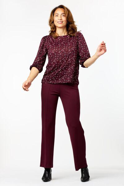 Hosen - HEMA Damen Hose Bordeauxrot  - Onlineshop HEMA